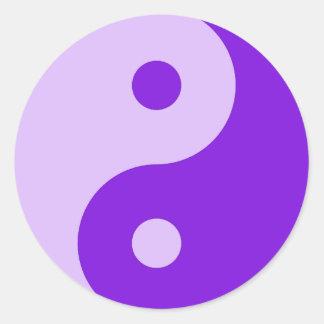 Purple Yin Yang Design Tshirts, Gifts Classic Round Sticker