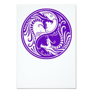 Purple Yin Yang Dragons Card