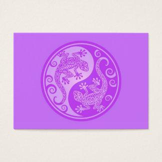Purple Yin Yang Geckos Business Card