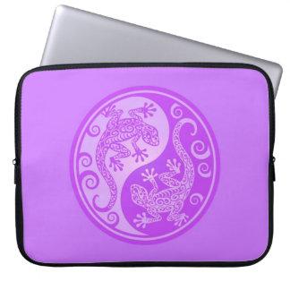 Purple Yin Yang Geckos Computer Sleeve