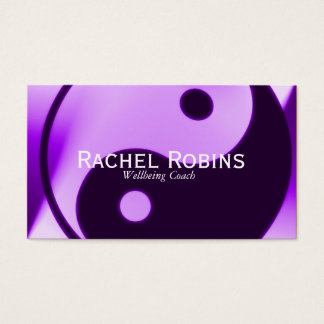 Purple yin yang health and wellbeing business card