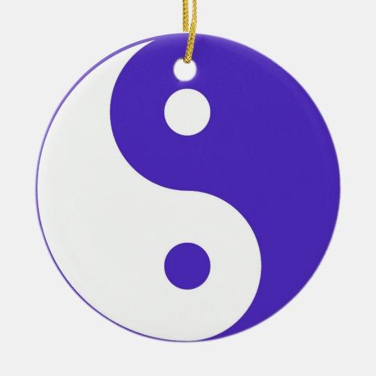 Purple Yin & Yang ornament