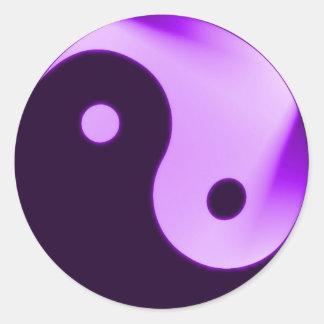 Purple Yin yang sticker