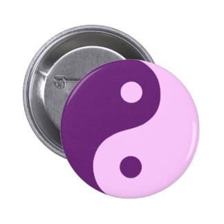 Purple Yin Yang Symbol Pin