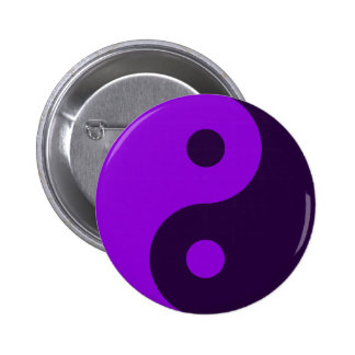 Purple Yin Yang Symbol 2 Inch Round Button