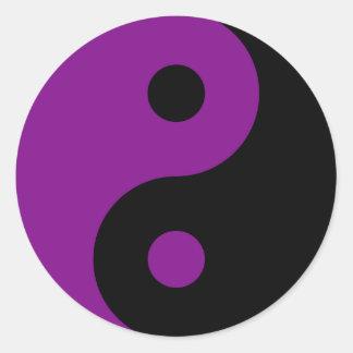 Purple Yin Yang Symbol Sticker