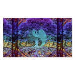 Purple Yin Yang with Mandala Heart Double-Sided Standard Business Cards (Pack Of 100)