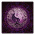 Purple Yin Yang with Tree of Life Poster (<em>$18.75</em>)