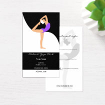 purple Yoga Business Cards