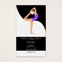 purple Yoga Business Cards