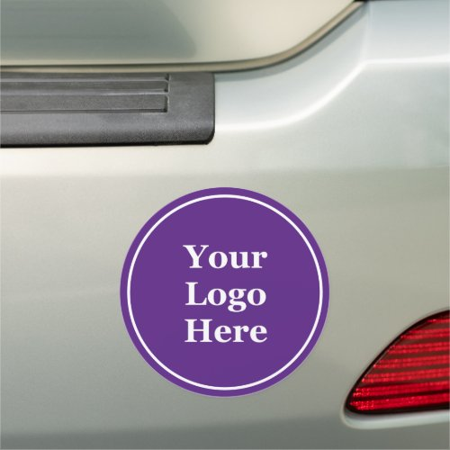 Purple Your Logo Here Car Magnet