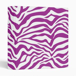Purple Zebra 3 Ring Binder