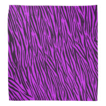 Purple Zebra Animal Print Bandana