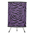 Purple Zebra Animal Print Desk Lamp