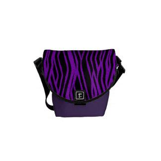 Purple Zebra Animal Print Messenger Bag
