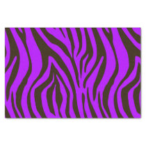 Purple zebra animal print pattern tissue paper