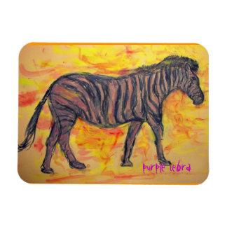 purple zebra art magnet