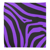 Purple Zebra Bandana