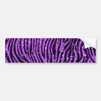 purple zebra bumper sticker