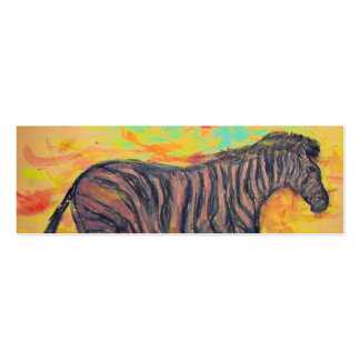 purple zebra Double-Sided mini business cards (Pack of 20)