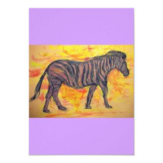 purple zebra card