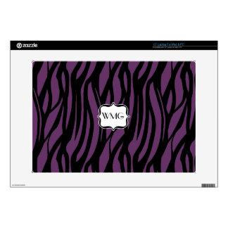 Purple Zebra Center Monogram Laptop Skin