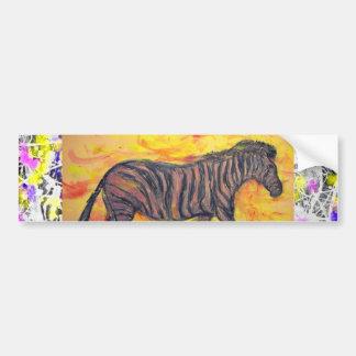 purple zebra drip painting car bumper sticker