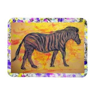 purple zebra drip painting magnet
