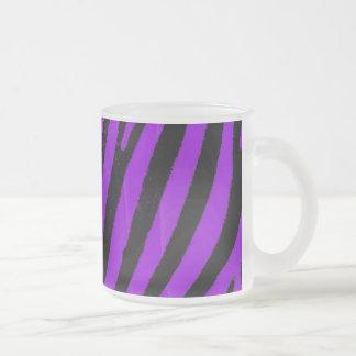 Purple Zebra Frosted Glass Coffee Mug