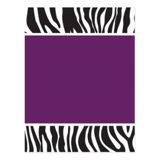 Purple Zebra Invite Postcard