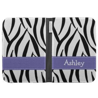 Purple Zebra Kindle 3 Folio Case Kindle Covers