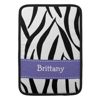 Purple Zebra Macbook Air Sleeve 13 / 11 Inch