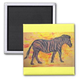 purple zebra magnet