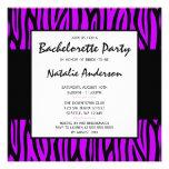 Purple Zebra Modern Bachelorette Party Personalized Announcements