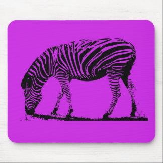 Purple Zebra Mouse Pad
