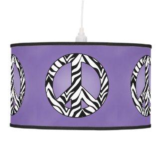 Purple Zebra Peace Sign Lamp