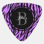 Purple Zebra Personalized Guitar Pick
