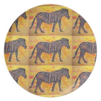 purple zebra plate