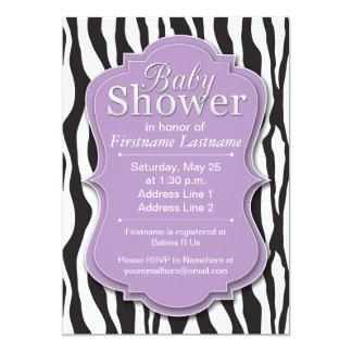 zebra print baby shower invitations & announcements | zazzle, Baby shower invitations