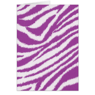 Purple Zebra print Card