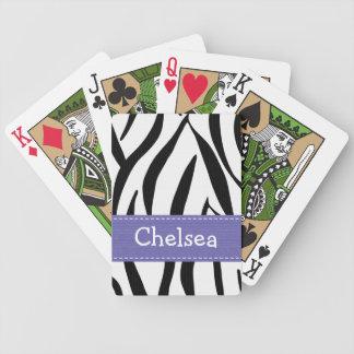 Purple Zebra Print Card Decks