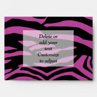 Purple zebra print pattern envelopes