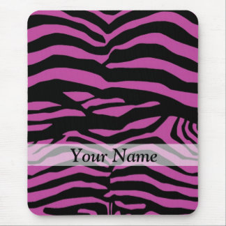 Purple zebra print pattern mouse pad