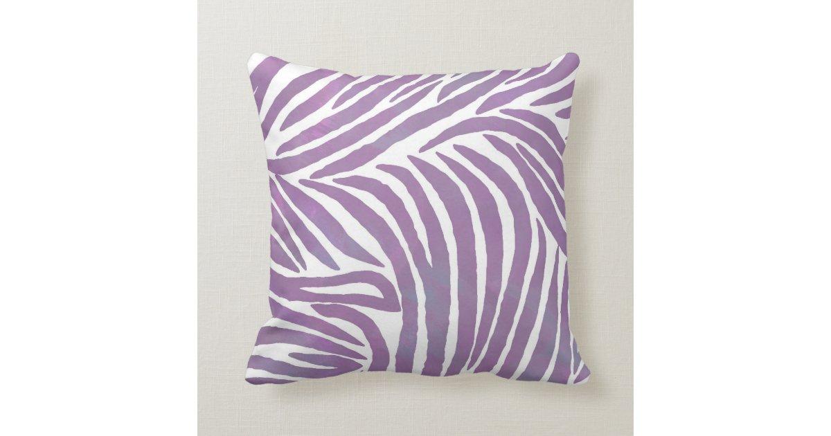 Zebra Print Decorative Pillow : Purple Zebra Print Throw Pillow Zazzle