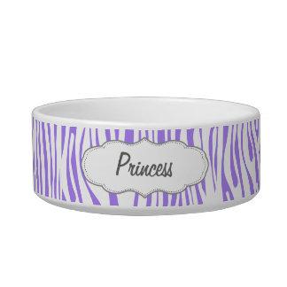 Purple Zebra stripe pattern Bowl