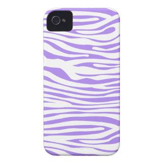 Purple Zebra stripe pattern Case-Mate iPhone 4 Case