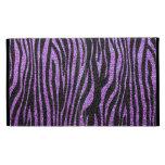 Purple Zebra stripe pattern (faux glitter bling) iPad Folio Covers