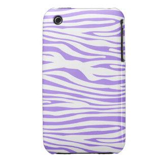 Purple Zebra stripe pattern iPhone 3 Case