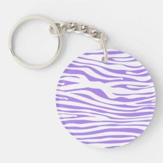 Purple Zebra stripe pattern Keychain