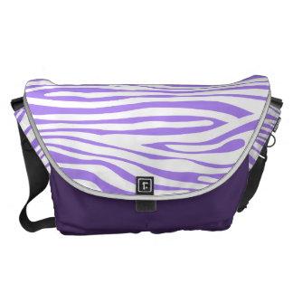 Purple Zebra stripe pattern Courier Bags